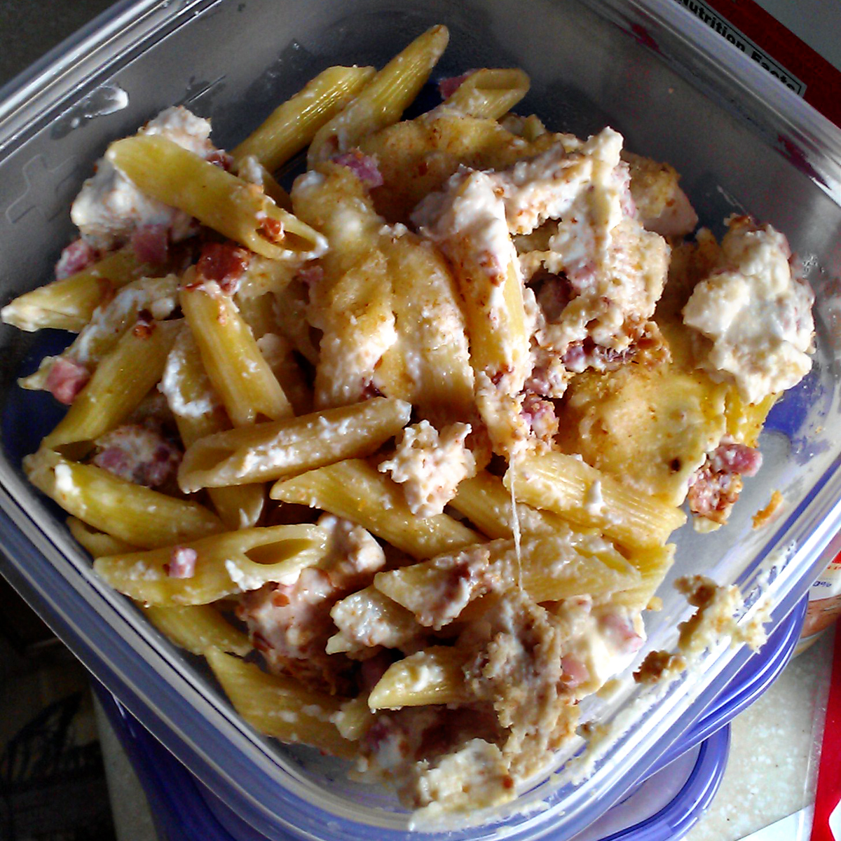 Freezer Meals for Matt: Chicken Cordon Bleu Pasta Bake | The Lentzed ...
