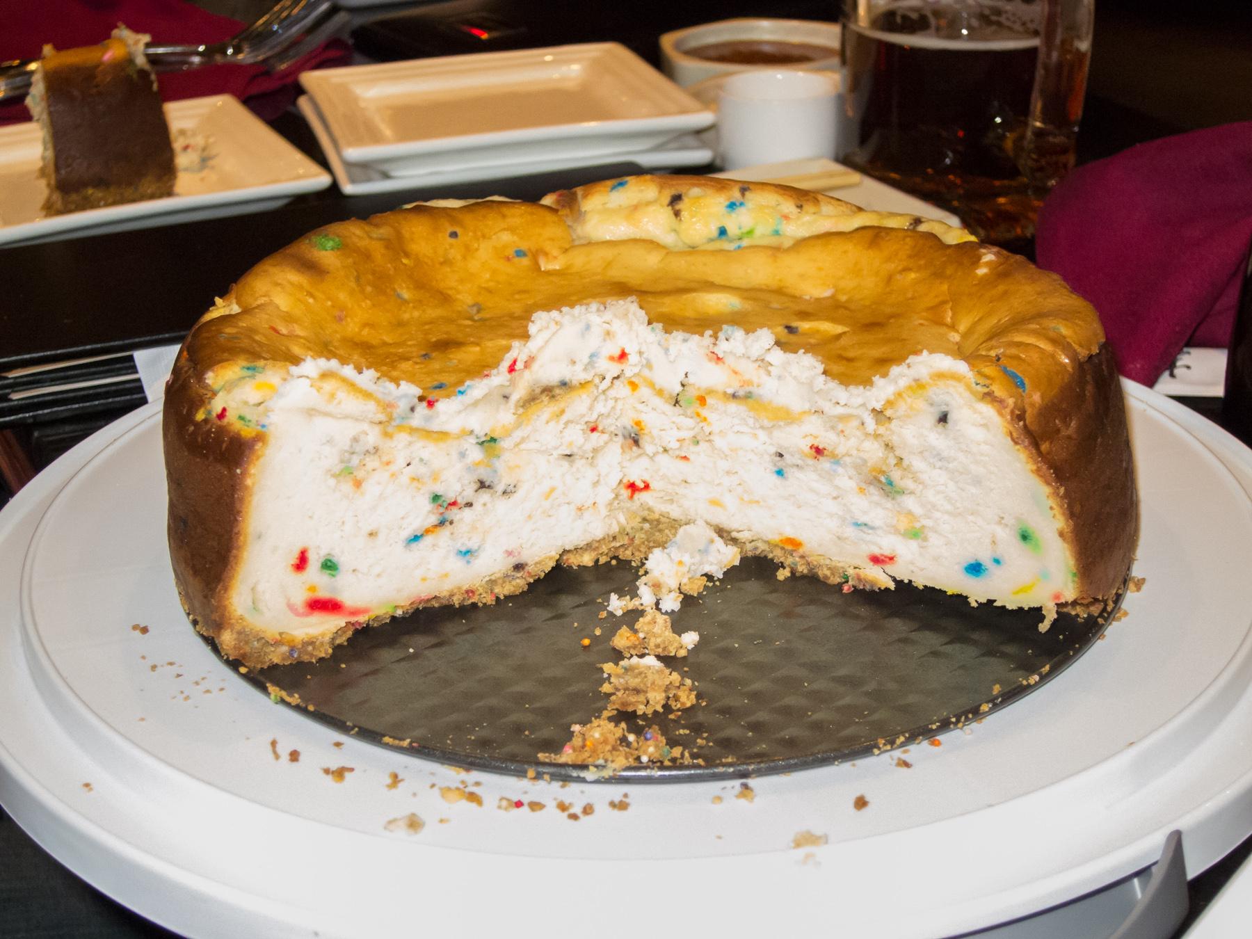 Cake Batter Cheesecake Happy Birthday Matt The Lentzed Life